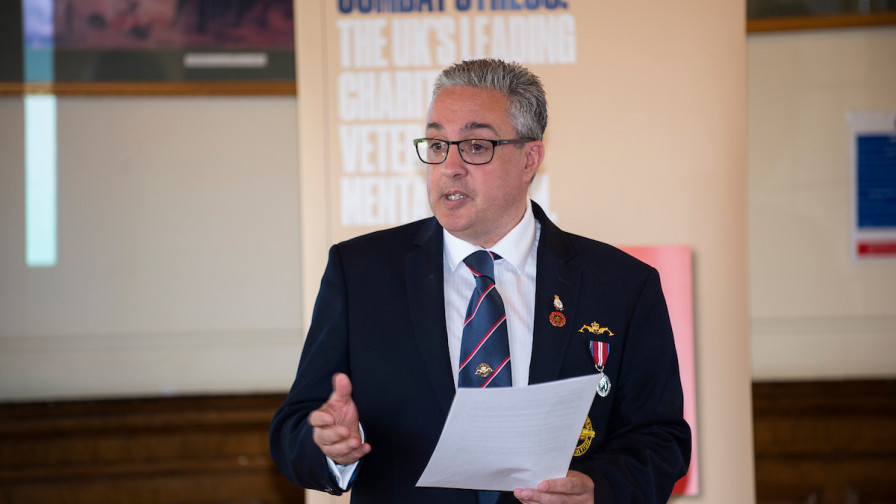 Combat Stress gifts in Wills event - Hollybush House 2018