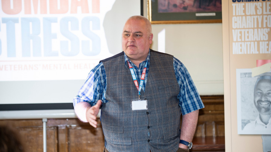 Veteran speaker at our gifts in Wills, legacy event in Scotland 2018