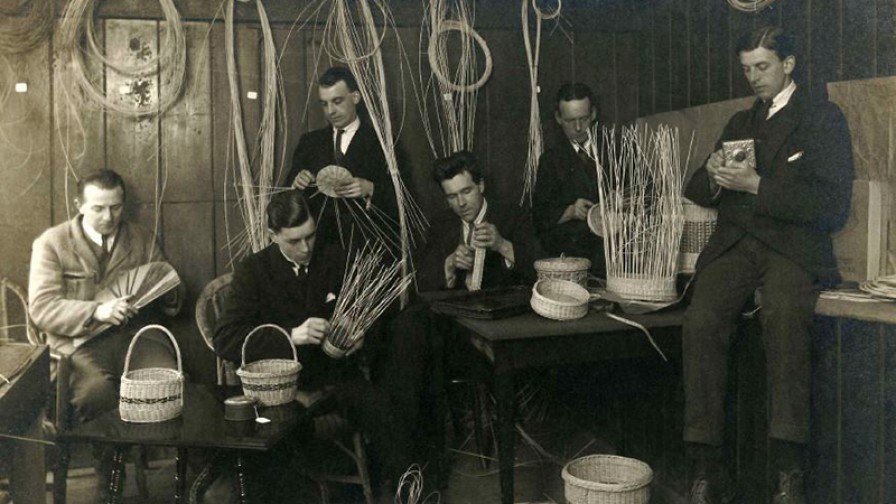 Basket weaving in Occupational Therapy