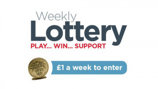 Weekly Lottery Play win support, £1 per week to enter