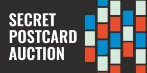 What is a Secret Postcard Auction?